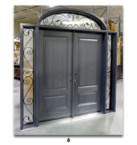 charcoal double door with no handles
