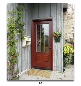 rustic red door