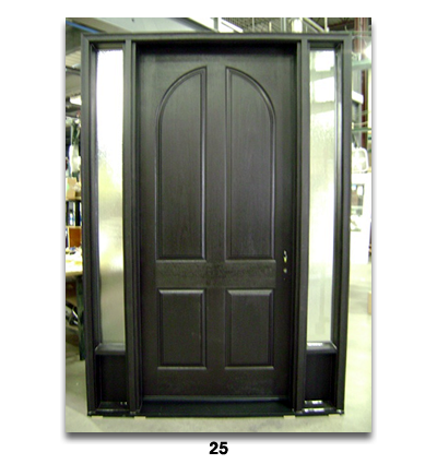 simple black door